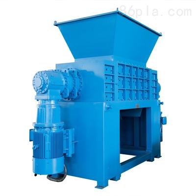 PE化工蓝桶双轴撕碎机  铁质油漆桶 210L柴油桶双轴撕碎机