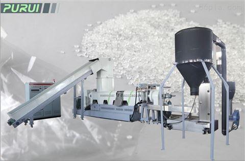 ML单阶三休一体高效排气PE/PP薄膜回收造粒机组-  张家港市普瑞塑胶机械有限公司