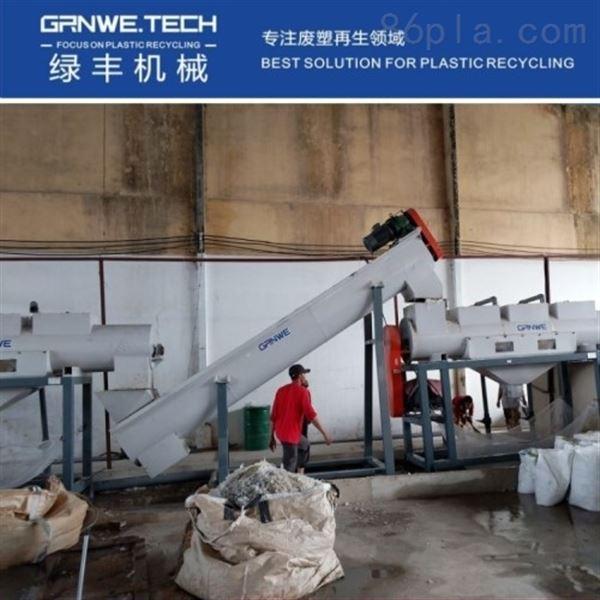 社会袋自动化设备农用化肥袋清洗回收生产线